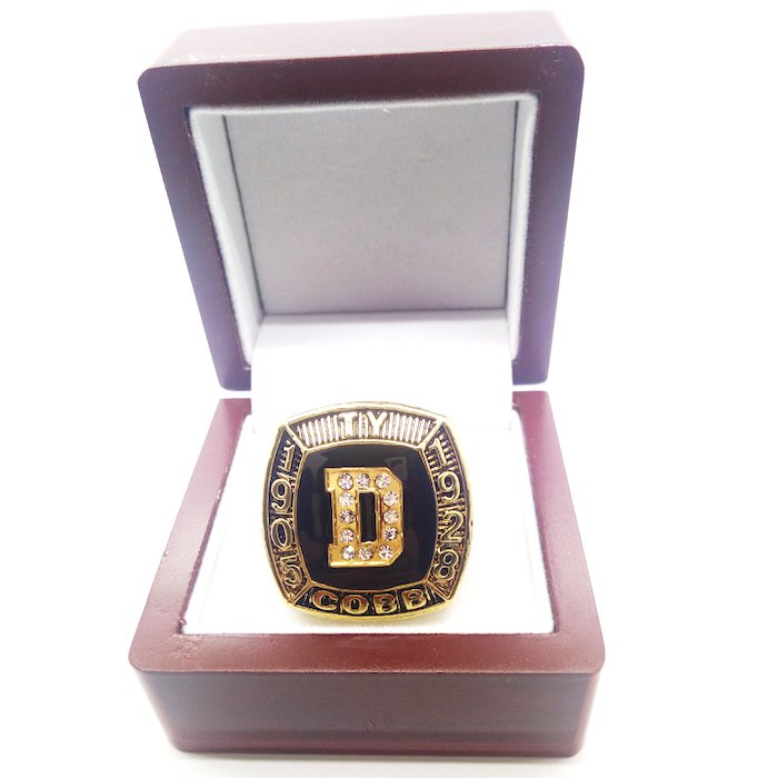 1905-1928 DETROIT TIGERS TY COBB Hall-of-Fame Championship Ring-Size 11-With Box