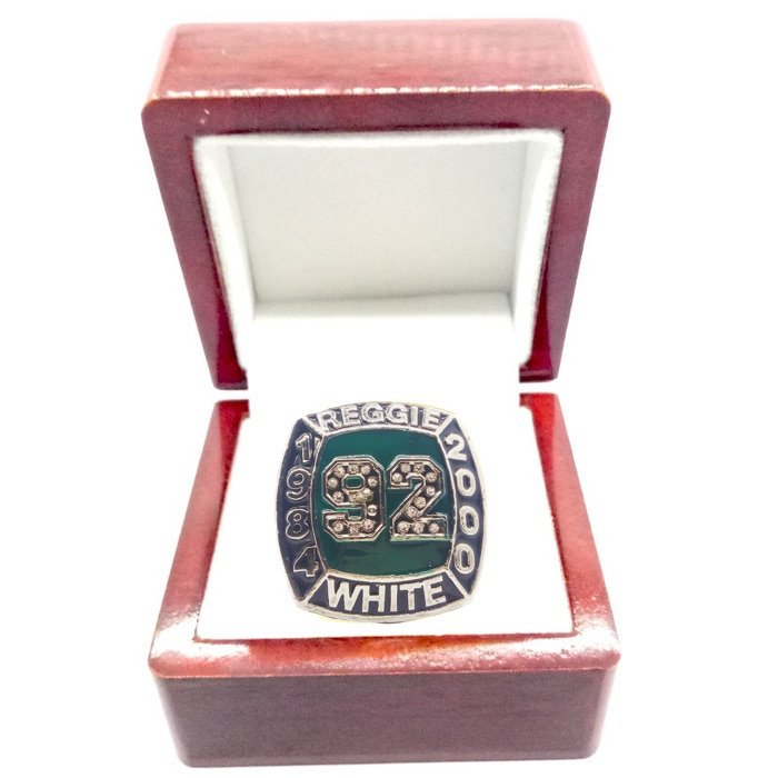 1984 2000 REGGIE WHITE Hall-of-Fame Championship Ring-Size 11-With Box