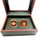 1966 1969 Kansas City Chiefs Championship Ring Set Of 2-Size 11-With Box