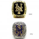 2000 2015 New York Mets World Series Baseball Championship Ring Set Of 2-Size 11-No Box