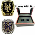 2000 2015 New York Mets World Series Baseball Championship Ring Set Of 2-Size 11-With Box