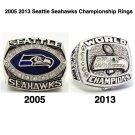 2005 2013 Seattle Seahawks Football Championship Ring Set Of 2-Size 11-No Box
