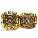 1963-1985 Chicago Bears Championship Ring Set Of 2-Size 11-No Box