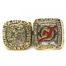 1995-2003 New Jersey Devils Stanley Cup Finals Championship Ring Set Of 2-Size 11-No Box