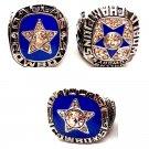 1970 1971 1975 Dallas Cowboys Championship Ring Set Of 3-Size 11-No Box