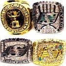 1966/1989/2013/2007 Saskatchewan Roughriders Grey Cup Championship Ring Set Of 4-Size 11-No Box
