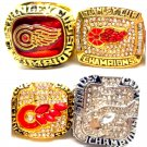 1997-1998-2002-2010 Detroit Red Wings Championship Ring Set Of 4-Size 11-No Box