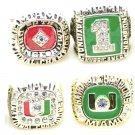 1983, 1989, 1991, 2001 Miami Hurricanes College Football Championship Ring Set Of 4-Size 11-No Box