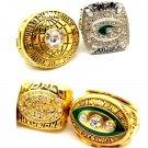1966/1967/1996/2010/ Green Bay Packers Championship Ring Set Of 4-Size 11-No Box