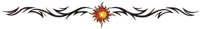 Sun Tribal Band Temporary Tattoo