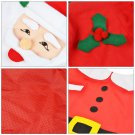 Christmas Gift Santa Toilet Seat Cover+Foot Pad+Water Tank Cover+Tissue Case Cover
