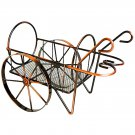 SM TYJJ-011 Creative Home Decoration Vintage Trolley Pattern Stainless Steel Wine Rack Bronze