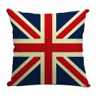 Home Decor Cotton Linen Blend Throw Pillow Case Cover Cushion Cover British Flag Printed