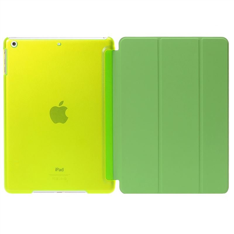 De  Cheng for Apple Ipad Air Non-detachable Smart Cover with Back Case Lawngreen Lawngreen