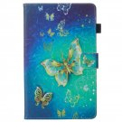 Protective Cover Case for Amazon Kindle Fire HD8  Pattern Gold Butterfly