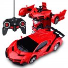 Remote Control Toy Car Transform Car Robot Remote Control Vehicle Red Red