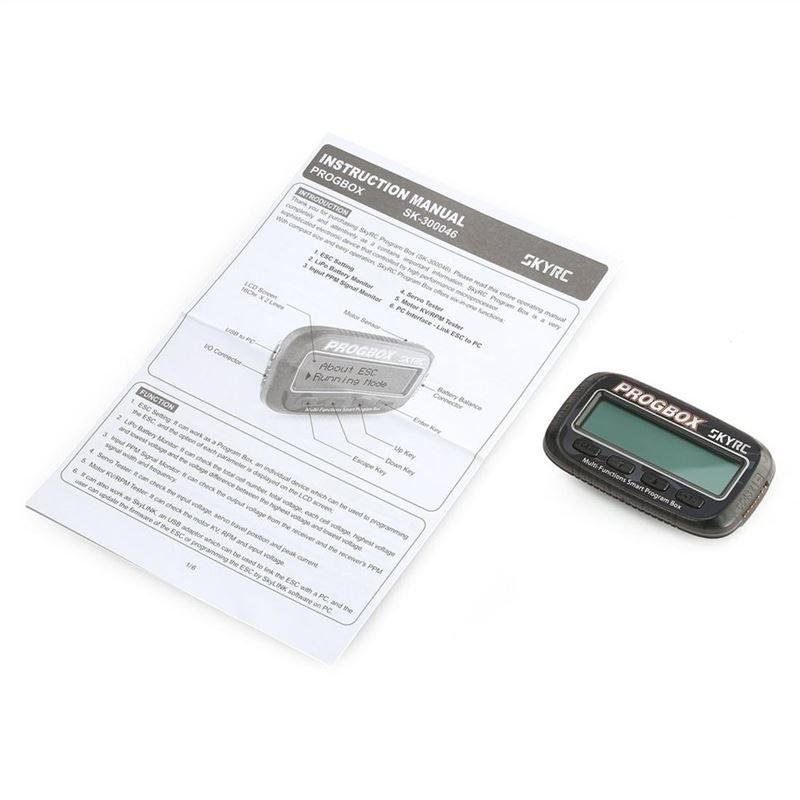 SKYRC SK-300046 PROGBOX ESC Program Box RC Motor Tester Lipo Battery Monitor