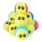 Dog Toy Tennis Balls 6cm Diameter Rubber Dogs Play Supplies Fun Outdoor Sports 5pcs Various Colors &