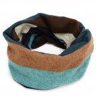 Product Name:  Fashion Unisex Men Women Winter Beanie Hat Striped Velvet Scarf Hat Multi-Use