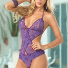 Product Name:  Sexy Erotic Lace Lingerie Women Halterneck Bra And Underwear Suit Bodysuit