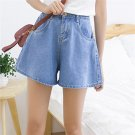Product Name:  Fashion Female Shorts High Waist Wide Leg Loose Casual Short Denim Pants Light Blue X