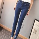 Product Name:  Spring Women Fashion Letters Printing Slim Jeans Casual High Waist Denim Pants