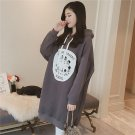 Women Long Section Thickening Hooded Sweatshirt Long-sleeved Pullover Dress