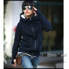 Hooded Pullovers Long-sleeved Sweatshirt With Zipper Closure for Women
