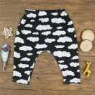Newborn Unisex Cute Clouds Patterned Long Stretchy Trousers with Elastic Waist