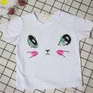 Summer Cute Short-sleeve Round-neck T-shirt with Cat's Big Eyes Pattern Unisex
