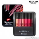 Nee Cara Be Colorful Drawing Lip Pen Kit 12 Colors