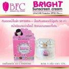 X4 BFC Bright Sunscreen Cream UVA UVB Protection SPF50 PA plus plu