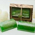 Luffa Soap Bar Scrub Aromatherapy Green Tea Honey Saibua 100g.