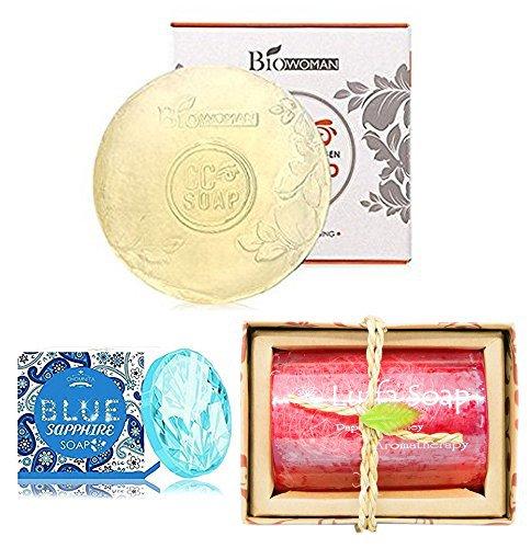BIOWOMEN C COLLAGEN LUFFA PAPAYA BLUE SAPPHIRE SOAP ANTI-AGING FIRMING