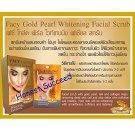 Facy Gold Pearl Whitening Facial Scrub 10 G.X 6 Packs.