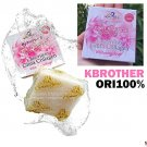 Net Wt. 60g.K.BROTHERS GLUTA COLLAGEN WHITENING SOAP for Facial & Bod