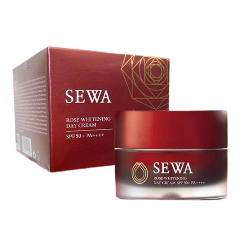 SEWA ROSE WHITENING DAY CREAM SPF 50 PA+++ ANTI AGING WRINKLE AURA
