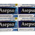 Asepso Bar soap Antiseptic Antibacterial Agent Healthy Skin 80g.(Pack of