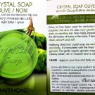 3 Packs Olive and Noni Crystal Natural Organic Glycerin Soap Smoothen