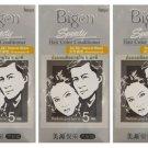 3 BOXES of BIGEN SPEEDY Natural Black No.881 Hair Color Conditioner.