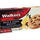 Walkers Fruit & Lemon Biscuits, 150 g (Pack of 1 piece) /