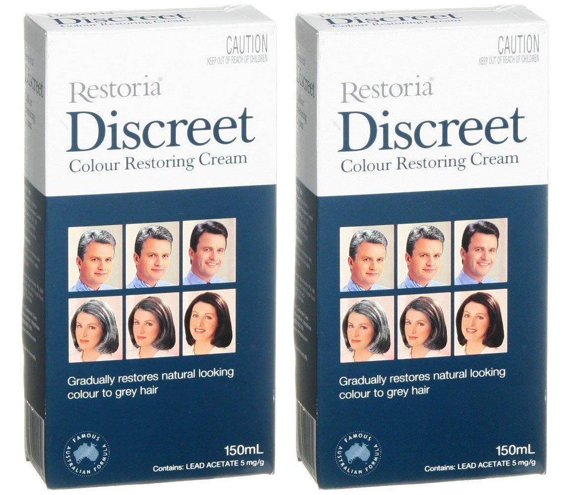 2 BOXES of Restoria Discreet Colour Restoring Cream 150ml
