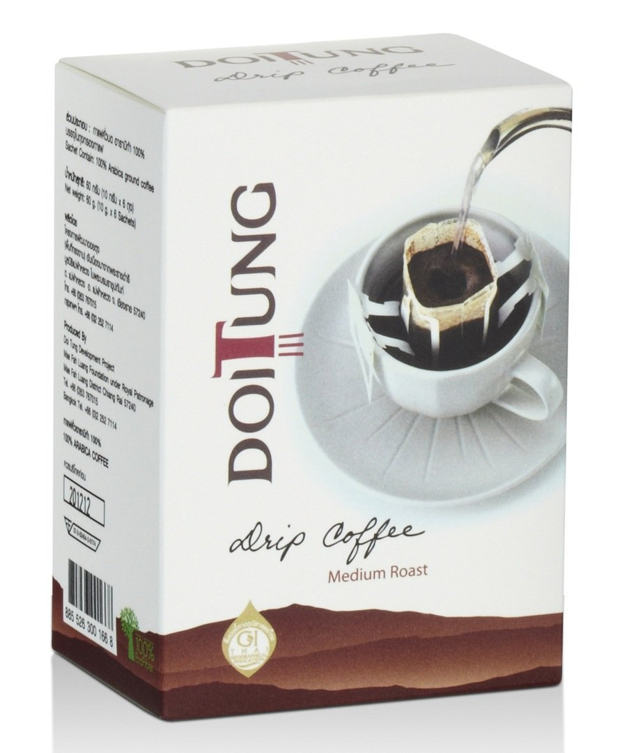 DoiTung Product - Drip Coffee Medium Roast Premium Brand in Thail