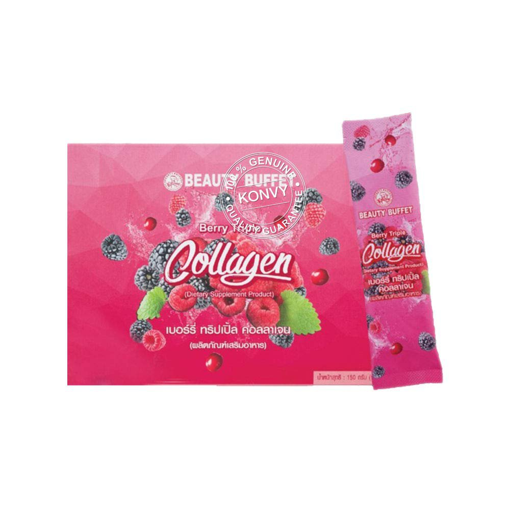 New !! Berry Triple Collagen 15000 Mg (15g.x10 Sachets)