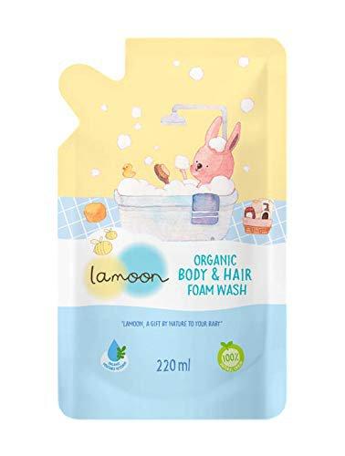 Lamoon Organic Body & Hair Foam Wash Capacity 220 ml. (2 Pack)