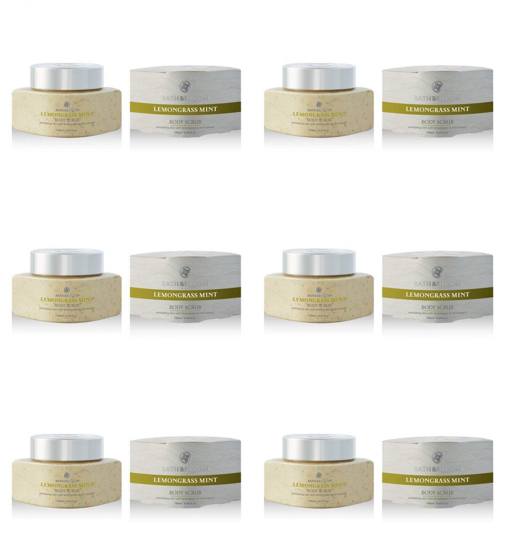 Bath&Bloom Lemongrass Mint Body Scrub 8.70 fl.oz. (6 Pack)