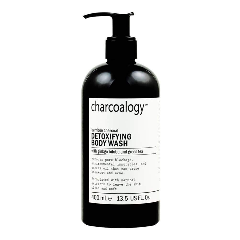 Charcoalogy Bamboo Charcoal Detoxifying Body Wash 400 ml. (2 Pack)