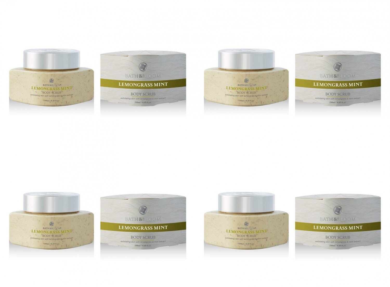 Bath&Bloom Lemongrass Mint Body Scrub 8.70 Fl.Oz (4 Pack)