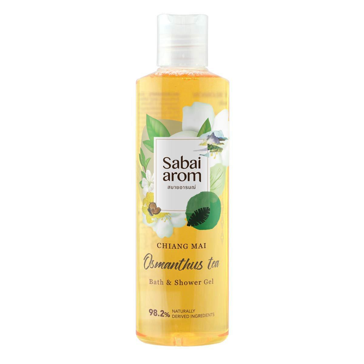 Sabai-arom Osmanthus Tea Bath & Shower Gel 250 ml. (4 Pack)