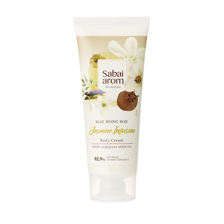 Sabai-arom Jasmine Infusion Body Cream 200 g. (4 Pack)